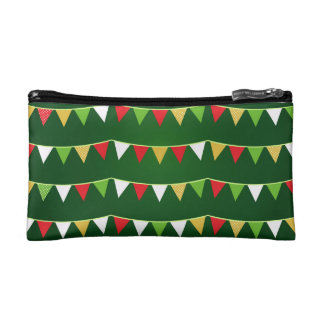 Designers bag with flags cosmetics bags