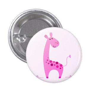 Designers button : Pink giraffe