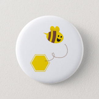 Designers button : with flying Bee