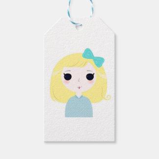 Designers cute blond Manga Gift Tags