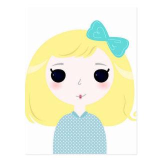 Designers cute blond Manga Postcard