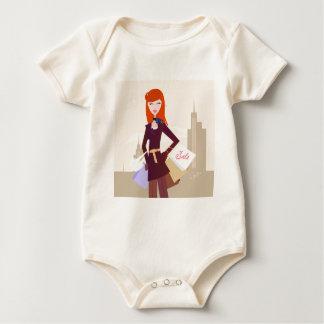 Designers edition : Shopping girl Baby Bodysuit