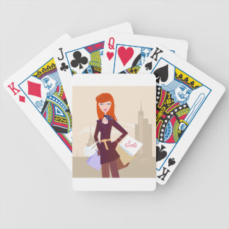Designers edition : Shopping girl Bicycle Playing Cards