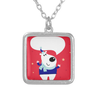 Designers edition with Arctic teddy Silver Plated Necklace