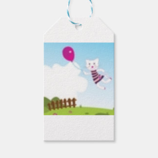 Designers flying kitten with Balloon Gift Tags