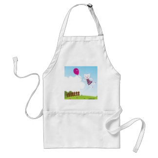 Designers flying kitten with Balloon Standard Apron
