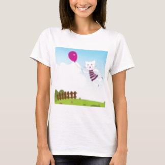 Designers flying kitten with Balloon T-Shirt