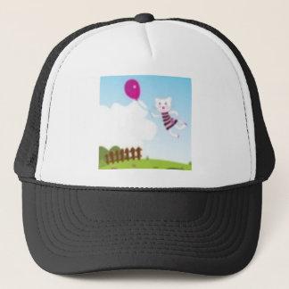 Designers flying kitten with Balloon Trucker Hat