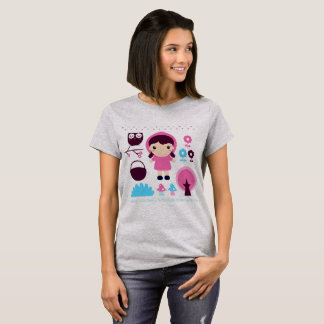 Designers girls t-shirt with Pink riding hood