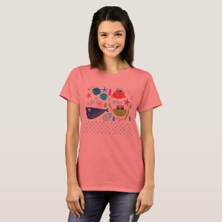 Designers girls t-shirt with Underwater creatures