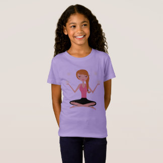 Designers girls t-shirt with Yoga girl