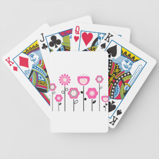Designers hand painted Folk Flowers Bicycle Playing Cards