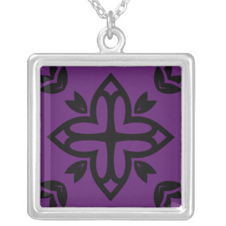 Designers jevelry with Mandala art Silver Plated Necklace