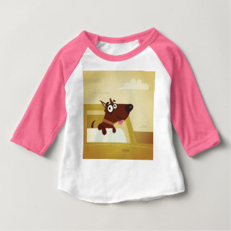 Designers kids t-shirt with little Dog