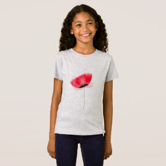 Designers kids tshirt with Red poppy