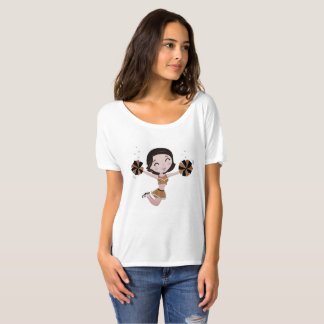 Designers ladies t-shirt with Jumping girl