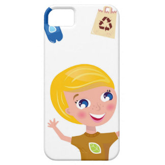 Designers little BIO School Boy with Items Case For The iPhone 5