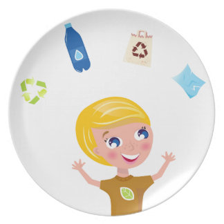 Designers little BIO School Boy with Items Plate
