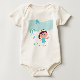Designers mare girl with Sea star Baby Bodysuit