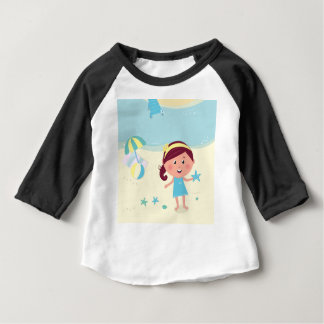 Designers mare girl with Sea star Baby T-Shirt