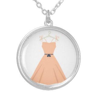 Designers necklace with Vintage dress