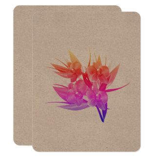 Designers paper greeting with Asia floral art Card