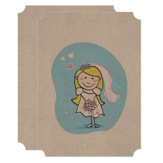 Designers paper greeting with Gold hair girl Card