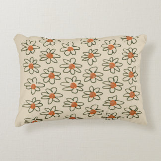 Designers pillow with Folk flowers