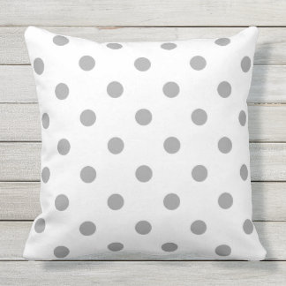 Designers pillow with grey Dots