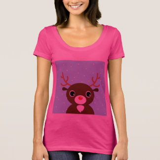 Designers pink t-shirt with Reindeer