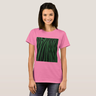 Designers pink tshirt with Africa zebra pattern