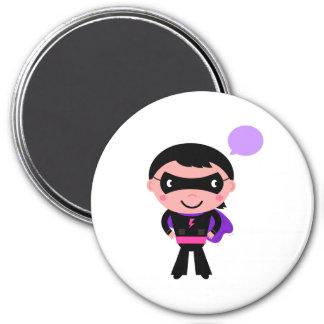 Designers plastic Fashion button 7.5 Cm Round Magnet