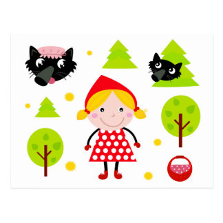 Designers red riding hood Edition Postcard