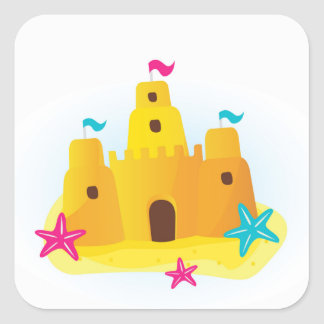 Designers sand castle Edition Square Sticker
