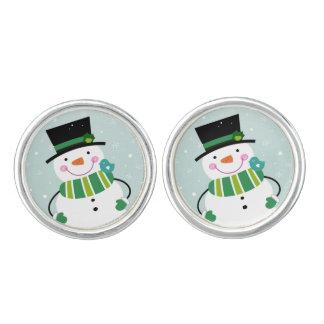 "Designers ""snowman"" Cufflinks"