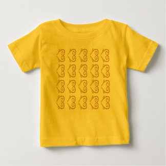 Designers Summer tshirt with Hearts GOLD YELLOW