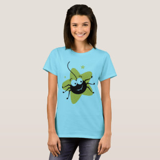 Designers t-shirt blue with bug