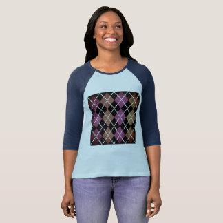 Designers t-shirt blue with design Blocks