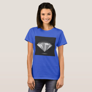 Designers t-shirt blue with Emerald