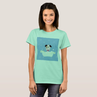 Designers t-shirt for lady with Little cute Dog