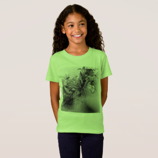 Designers t-shirt green with Illustration
