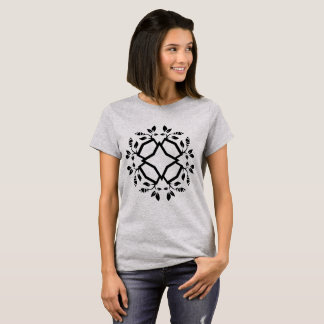 Designers t-shirt grey with Mandala
