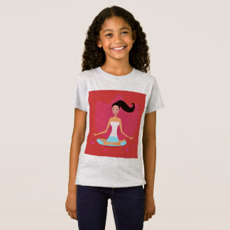 Designers t-shirt Grey with Yoga girl