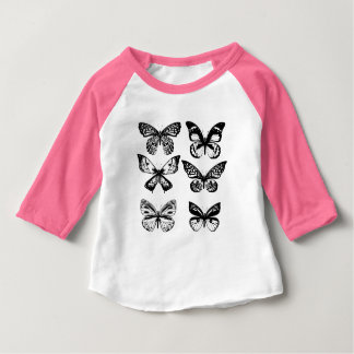 Designers t-shirt pink with butterflies