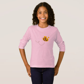 Designers t-shirt pink with Little flying bee