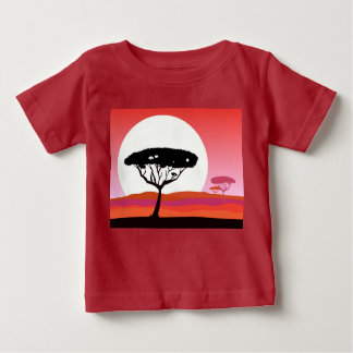 Designers t-shirt red with Africa tree