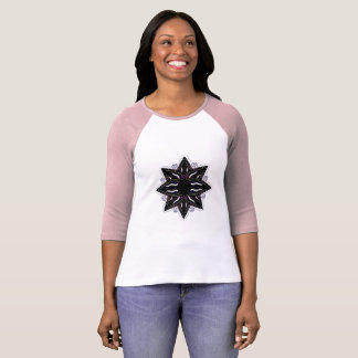 Designers t-shirt with Black mandala