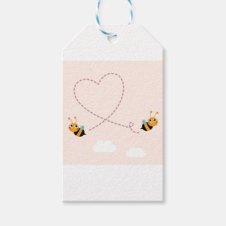 DESIGNERS t-shirt with Love bees Gift Tags