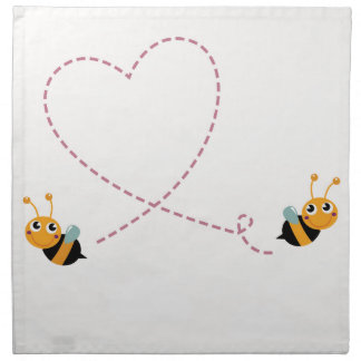 DESIGNERS t-shirt with Love bees Napkin