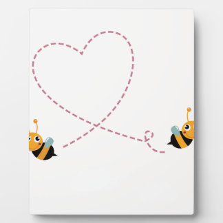 DESIGNERS t-shirt with Love bees Plaque